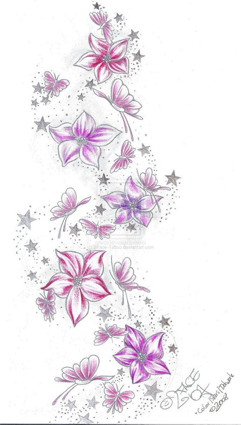 flower and star tattoo designs 62 flowers ideas with meanings