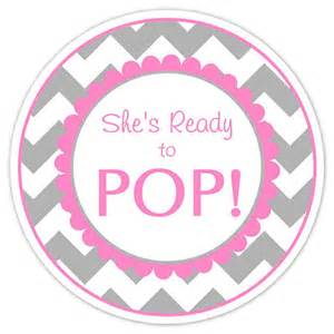 Ready To Pop Stickers Template by Baby Shower Ready To Pop Labels Gray Chevron By