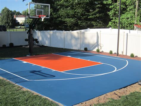 this is another knicks backyard basketball court we did at