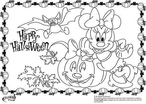 minnie mickey mouse coloring pages halloween team colors