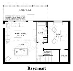 Design Your Own Basement Floor Plans Bayview At Gig Harbor The Ashland With Basement Home Design