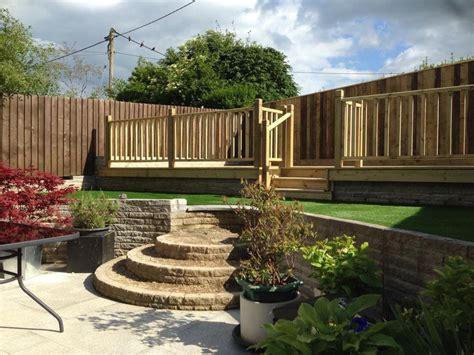 sloping garden design ideas uk decking ideas for sloping garden decking designs for
