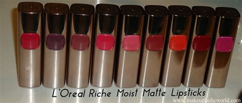 Loreal Color Riche Moist Matte Lipstick l oreal color riche moist matte lipstick swatches price in india makeupholic world