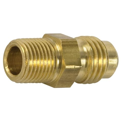 Plumbing Union Bc by Brass Flare To Pipe Half Union 1 4 X 1 4 A80 In