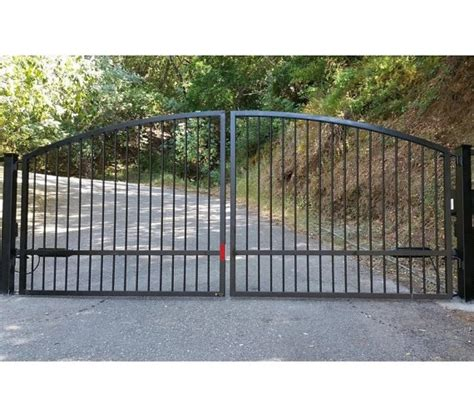 Dual Wrought Iron Driveway Gate With Posts Hinges Free Sidewalk L Posts