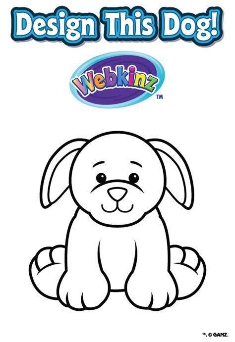 Design A Dog Contest Wkn Webkinz Newz Webkinz Coloring Pages