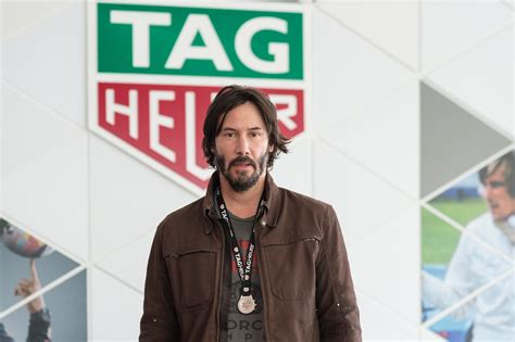 Arch Motorcycle's Keanu Reeves at TAG Heuer F1 Launch