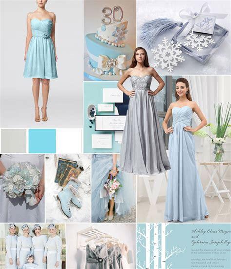 winter wedding color combos white silver blue tulle chantilly wedding