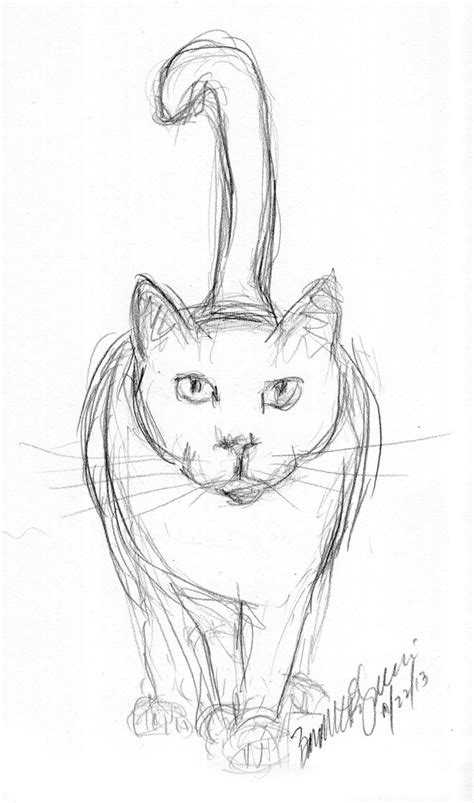 7 Drawing Pencil by Pencil Sketch Of Cat Daily Cat Sketches In 2018