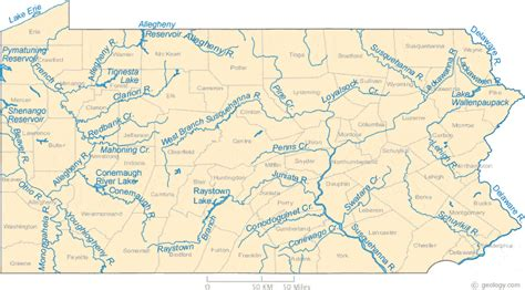 western pa map map of pennsylvania