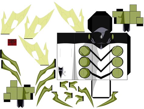 Ben 10 Papercraft - pin papercraft ben 10 ultimate on