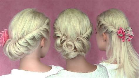 holiday braided updo tutorial medium hairstyle for long hair romantic updo hairstyles for new year s eve for medium