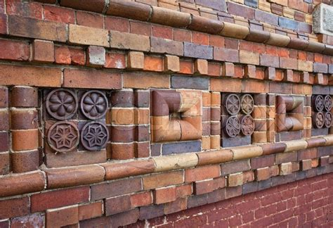 fragment   brick walls  patterns stock photo