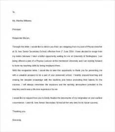 Resignation Letter Format Presenting Valuable Prospect