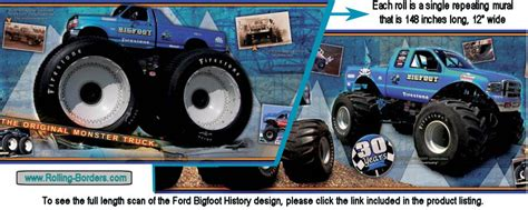 history of bigfoot monster truck rolling borders com automotive wallpaper borders