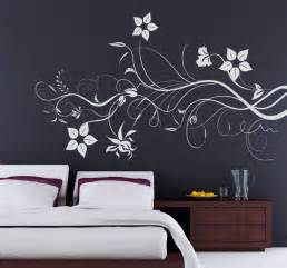 flower wall stickers uk branching flowers wall sticker tenstickers