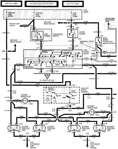 1994 chevy p u 1500 series electrical wiring diagrams