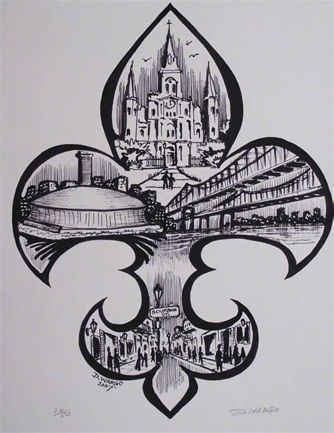 watercolor tattoos new orleans fleur de lis painting by the new orleans artist