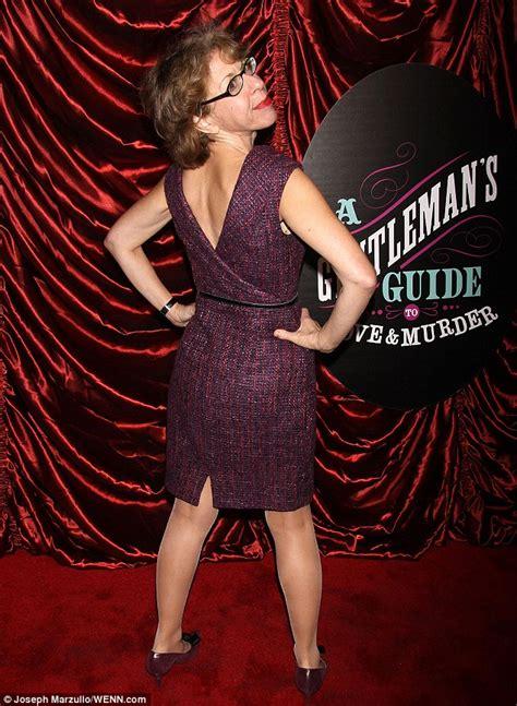 breaking bads betsy brandt wears stunning purple gown