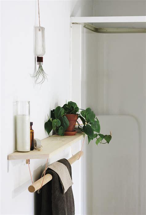 diy bathroom rack diy towel rack shelf 187 the merrythought