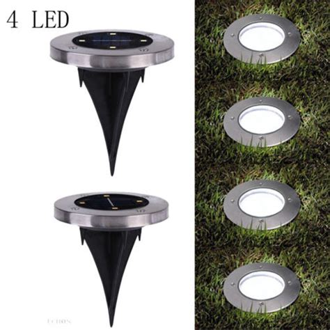 4 Led Solar Powered Led Buried Inground Recessed Lights Solar Recessed Lights