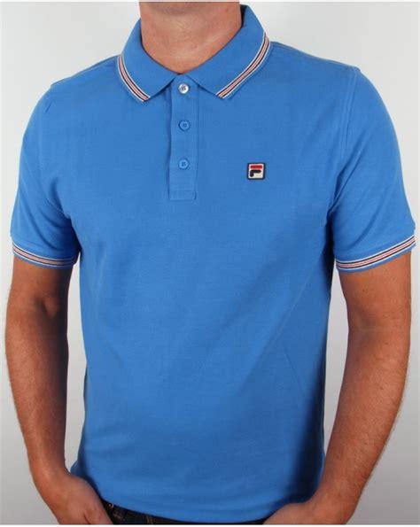 Polo Shirt Fila 3 fila vintage matcho 3 polo shirt blue mens match