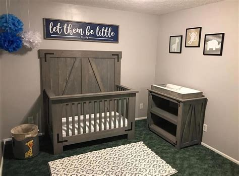 baby crib and changing table diy farmhouse crib and changing table free plans at