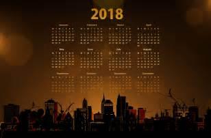 Calendar 2018 Wallpaper 2018 Calendar With A Cityscape 5k Retina Ultra Hd Papel De