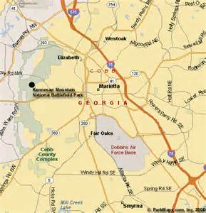 Kennesaw Zip Code Map by Kennesaw Mountain National Battlefield Park Kennesaw Ga