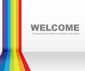 Abstract Powerpoint Templates Powerpoint Rainbow Template