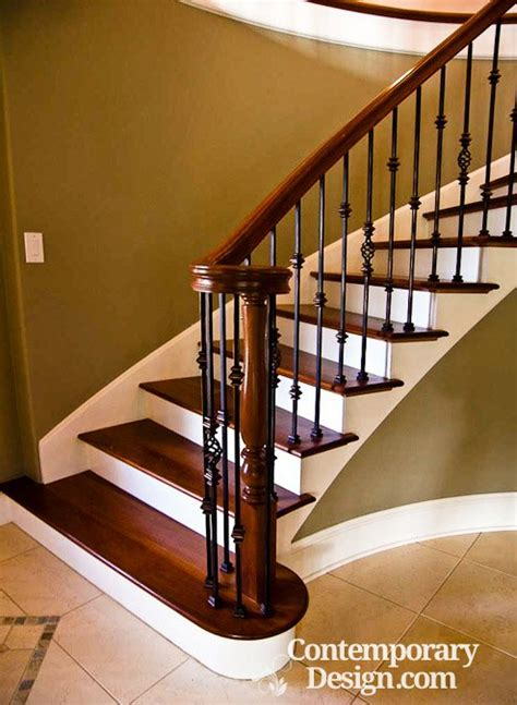 Stairs Without Banister Wood And Metal Staircase