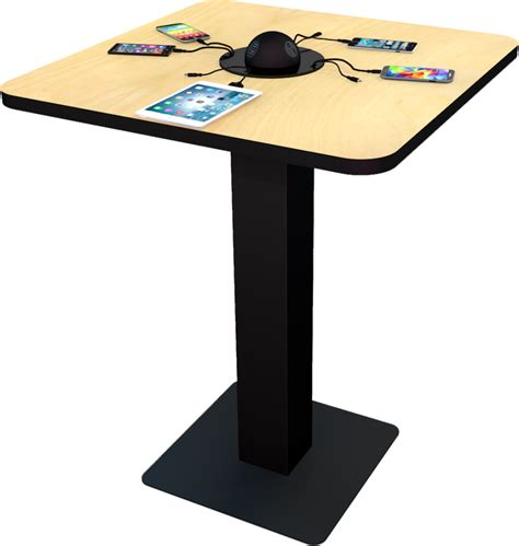 smartphone charging station transitional desk power table power up productivity kwikboost