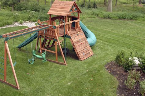 backyard swing set ideas cool home kid friendly backyard design with wooden fences