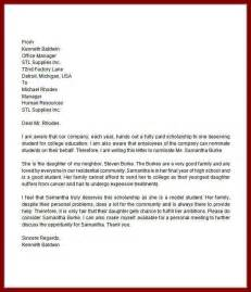 writing letter of recommendation for college scholarship
