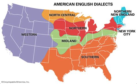 map us dialects language origin history characteristics