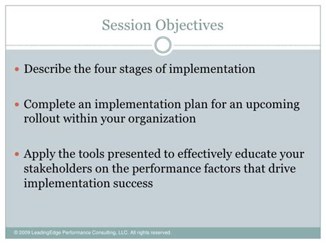 Learning And Performance Consultant At Sheryl Waxler Ph D Mba by Implementation Planning That Works
