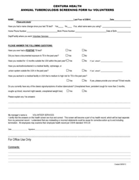 printable tb questionnaire tb screening form pictures to pin on pinterest pinsdaddy