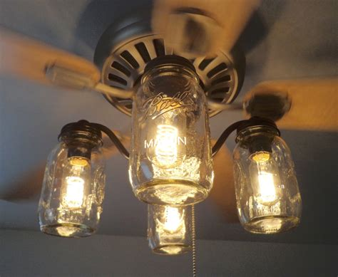 ceiling fan with jar lights mason jar ceiling fan light kit only new quarts by lgoods