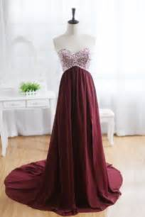 maroon color prom dress wine prom dress