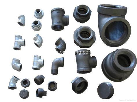 iron pipe l parts galvanized black malleable iron pipe fitting elbow tee