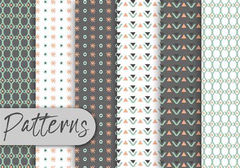 cute geometric decorative pattern set