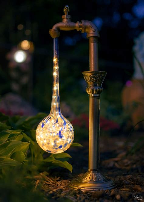 diy waterdrop solar garden lights  navage patch
