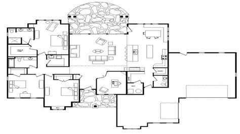 One Level Home Plans by Single Story Open Floor Plans Open Floor Plans One Level