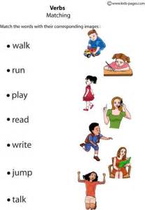 verbs matching 1 worksheet