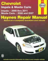 car repair manual download 2003 chevrolet monte carlo instrument cluster 2006 2011 chevrolet impala monte carlo haynes repair manual