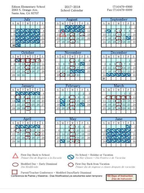 Edison School Calendar Edison Elementary School Overview