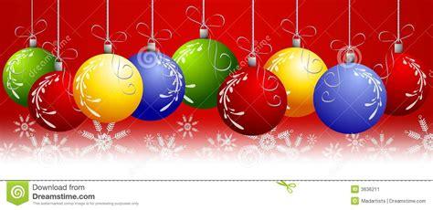 red christmas ornaments border stock illustration image