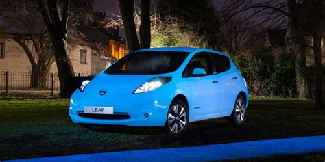 glow in the paint nissan this glowing leaf is the ideal uber to take to a