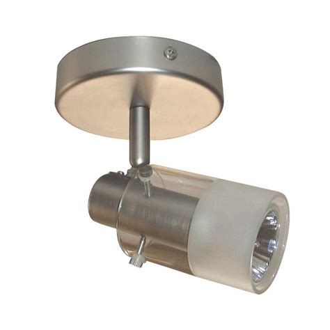 Light Fixtures Home Depot Ceiling Hton Bay 1 Light Brushed Steel Track Lighting Ceiling Fixture Ec334ba The Home Depot