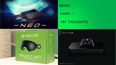 xbox neo xbox one scorpio vs ps4 neo xbox one slim news leaks and more